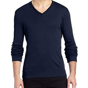 Calvin Klein | Long Sleeve Double Neck Trim Shirt